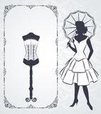 Vintage corset with beautiful ornament Stock Photography