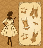 Vintage corset with beautiful ornament Royalty Free Stock Photography