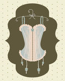 Vintage corset with ribbon Stock Images