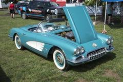 Vintage corvette convertible Stock Photos