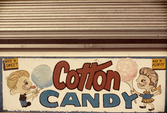 Vintage cotton candy sign Royalty Free Stock Image