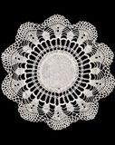 Vintage Cotton Doily Stock Photo