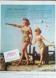 Vintage Cotton Swimsuit Advertisement Stock Image