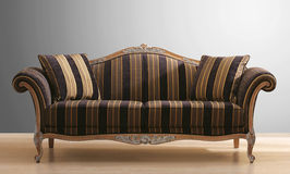 Vintage couch or sofa Royalty Free Stock Images