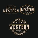 Vintage Country Emblem Typography for Western Bar/Restaurant Logo design inspiration - Vector vector illustration