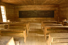 Vintage country one room school house. Stock Photos