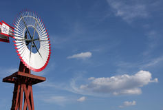 Vintage Country Windmill Stock Photography