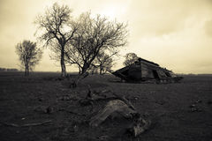 Vintage Countryside. An abandoned home slowly crumbling Stock Photography