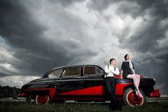 Vintage couple. Stock Images