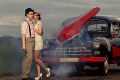 Vintage couple. Royalty Free Stock Images