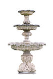 Vintage courtyard fountain isolated on white Royalty Free Stock Images