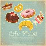 Vintage Cover Cafe or confectionery  Menu Royalty Free Stock Images