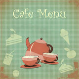 Vintage Cover Cafe Menu Stock Photo