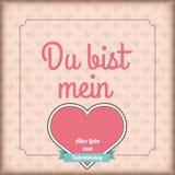 Vintage Cover Du bist Mein Heart Valentinstag Ribbon Stock Photography