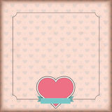 Vintage Cover Heart Emblem Ribbon Royalty Free Stock Image