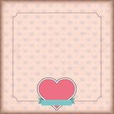Vintage Cover Heart Emblem Ribbon Royalty Free Stock Image