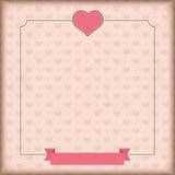 Vintage Cover Heart Ribbon Royalty Free Stock Photo