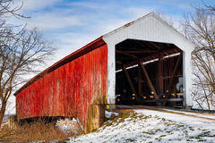 Vintage Covered Bridge Royalty Free Stock Photography