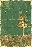 Vintage cowboy christmas card Stock Images