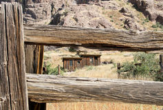 Vintage cowboy fence line cabin #5 Royalty Free Stock Images