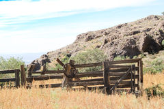 Vintage cowboy wooden fence line #1 Royalty Free Stock Image