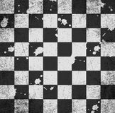 Vintage crack old scratched empty chess board. Stock Photos