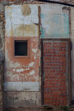 Vintage cracked old brick house wall Stock Photos