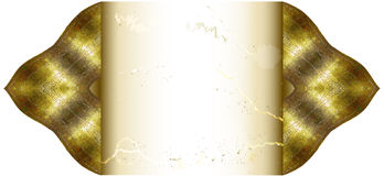 Vintage cracked paper with decorative golden edges Stock Photos