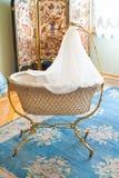 Vintage cradle in Hermitage museum, St Petersburg Royalty Free Stock Photo