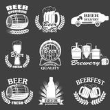 Vintage craft beer brewery emblems Stock Photography