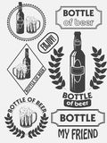 Vintage craft beer brewery emblems, labels and design elements. Beer my best friend. Vector Royalty Free Stock Photos