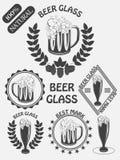 Vintage craft beer brewery emblems, labels and design elements. Beer my best friend. Illustration royalty free illustration