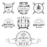 Vintage Craft Beer Brewery Logo and Badge Stock Photos