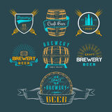 Vintage Craft Beer Brewery Logo and Badge Stock Photography