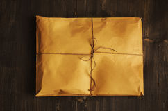 Vintage craft paper envelope tied up with string Stock Photography