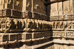 Vintage crafted designs on rocks  at Sun Temple Modhera in Ahmed Stock Image