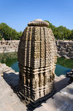 Vintage crafted designs on rocks at Sun Temple Modhera, Ahmedaba Stock Images