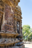 Vintage crafted designs on rocks at Sun Temple Modhera Stock Photography