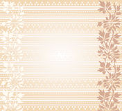 Vintage cream exotic floral banner Stock Image