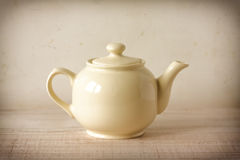 Vintage cream teapot Royalty Free Stock Images