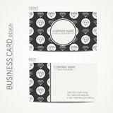 Vintage creative simple  business card template Stock Image