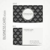 Vintage creative simple  business card template Stock Images