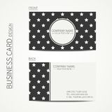 Vintage creative simple  business card template Stock Photography