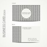 Vintage creative simple monochrome business card Royalty Free Stock Photos