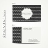 Vintage creative simple monochrome business card Royalty Free Stock Photo