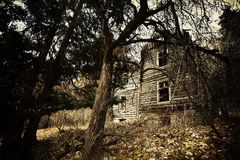 Vintage creepy house Royalty Free Stock Images