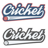 Vintage cricket label and badge Royalty Free Stock Photo