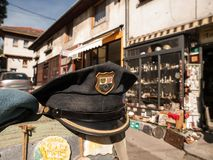 Vintage Croatian Police Hat Stock Photo
