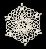 Vintage crochet snowflake Stock Image