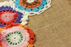 Vintage crocheted napkins Royalty Free Stock Photo